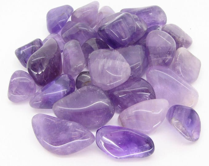 Tumbled AMETHYST medium stone 1/2-1 inch in size - Can assist Sobriety and Spirituality) Zero shipping if added to your order A88