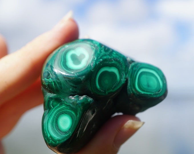Tumbled Green MALACHITE - Natural Malachite from S. Africa  - This Healing Crystal Can Assist in Detoxing and Inflammation TMAL