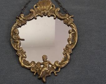 White Ornate Large Vintage Français Rocco Luxe Miroir