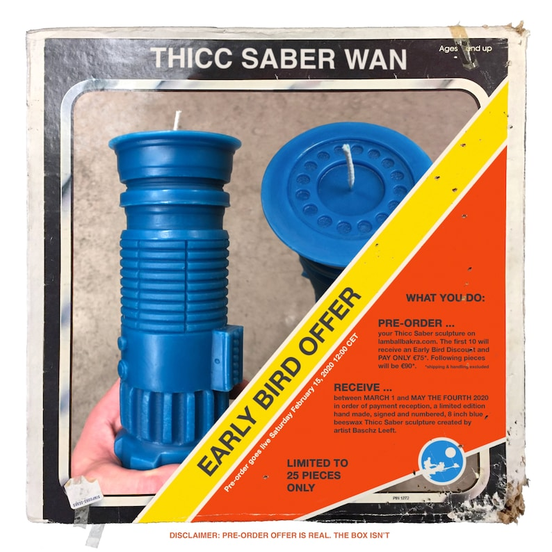 Limited Edition Beeswax Lightsaber Sculpture image 0