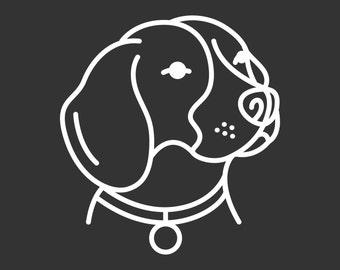 High Quality Beagle Decal GD133