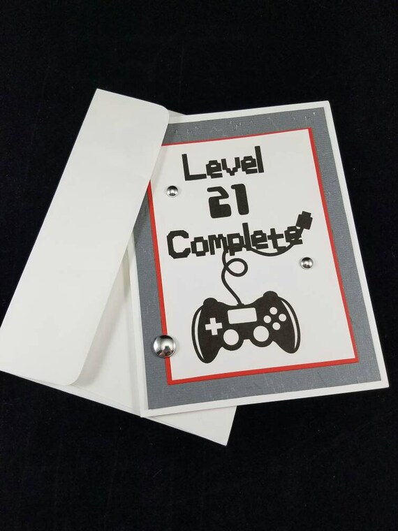 21st Birthday Handmade Card Gamers Guys