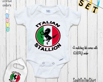 1//2 ITALIAN IS BETTER THAN NONE Europe Novelty Themed Baby Grow Italy