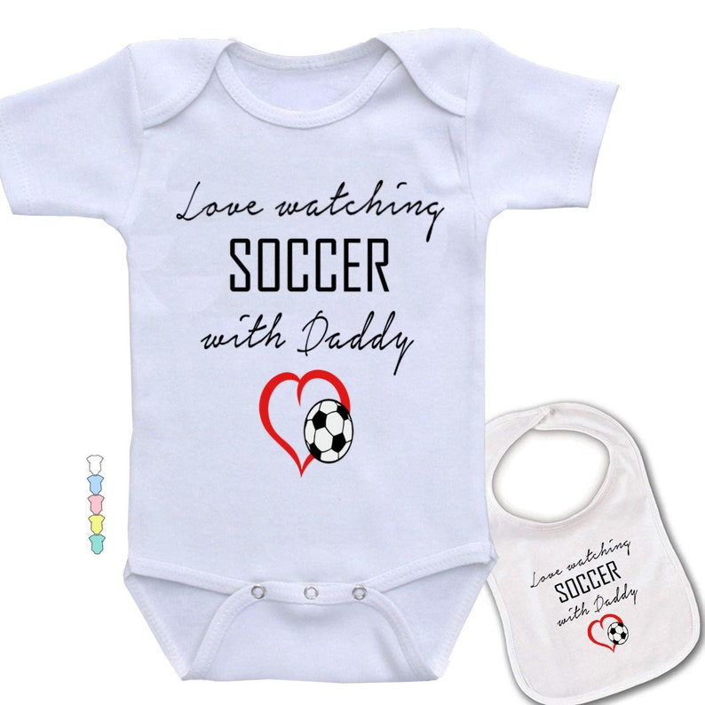 87a1d4118 Love watching soccer with Daddy Sports theme Funny & cute | Etsy