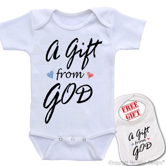 ab70d27c0 A Gift from God Cute Boutique quality funny unique baby | Etsy