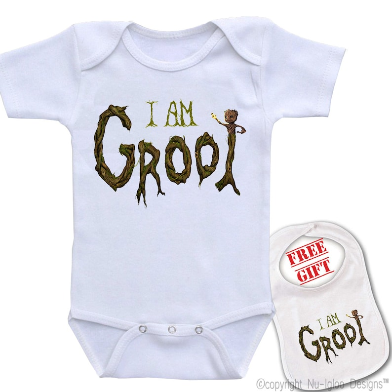 818fdc93c I Am Groot Cute Boutique quality funny unique baby bodysuit | Etsy