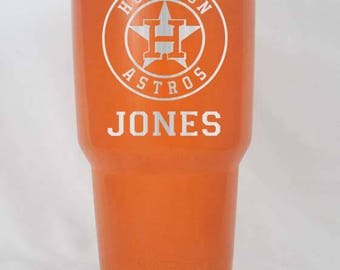 Houston Astros Unbranded or YETI 20 30 oz cup colster lowball custom personalzied