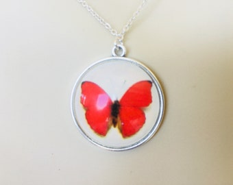 Beautiful Butterly and Sterling Silver Pendant - Help Raise Money for Cancer Research