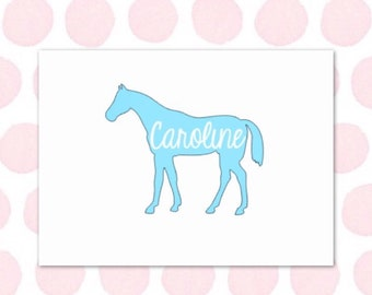 Horse Name Decal