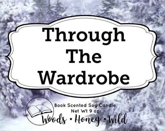 Through The Wardrobe - Book Scented Candle - Gifts For Writers - Fall Book Club - Book Lovers Gift - Soy Candles - Candles Soy - Candles -