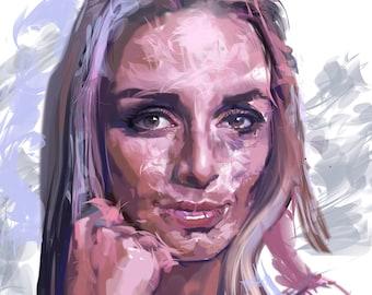 Custom Portrait, Digital Portrait, Custom Drawing, Digital Illustration, Full Body Portrait, Customized Portrait, Personalized Portrait,