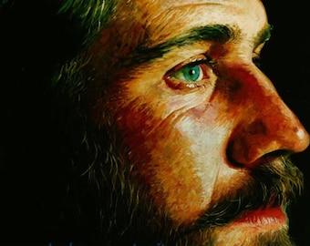 Custom Acrylic Painting, Fine Art Quality Customized Portrait, Acrylic Painting, Personalized Portrait, Personalized Painting