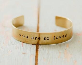 CUSTOM Brass Bracelet, Women's Brass Cuff Bracelet, Copper Cuff, Aluminum Cuff, Gift under 20, Gift for her, Design your Own Cuff