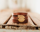 Leather Bracelet, Leather Wrap Bracelet, Stamped leather bracelet, Gift for wife, gift for best friend, gift for mom, gift for girlfriend