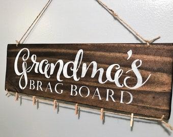 Brag Board,Grandma Gift,Grandparent Gift,Grandkids Sign,Gift for Grandma,Grandma Sign,Grandchildren Sign,Make Life Grand