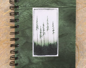 ttams - journal/sketchbook/notebook - trees green
