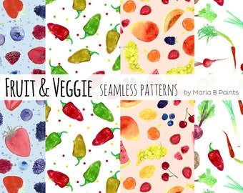 Watercolor Seamless Patterns Childhood Kids Play Color Etsy