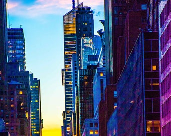 42nd St New York Brilliant Sunset Romantic Version of NYC