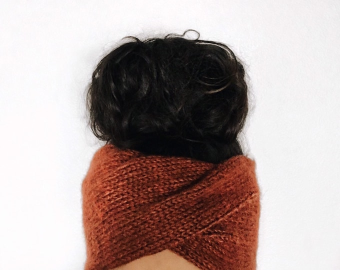 Featured listing image: Knit Earwarmer // Knit Turban // Double Knit