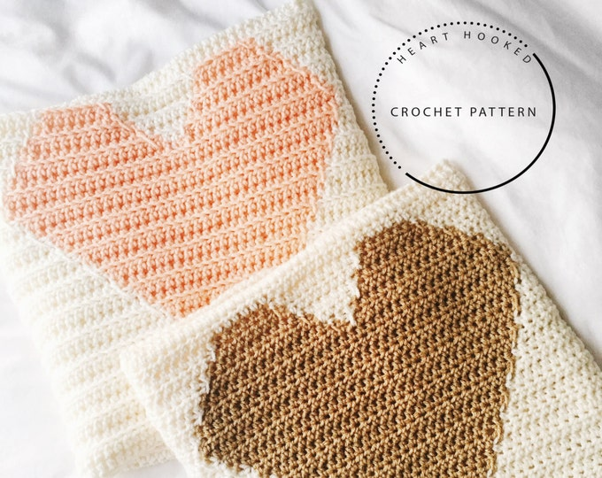 Crochet PATTERN // Heart Blanket PATTERN