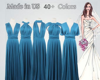 7e35750fe4e Blue infinity dress long bridesmaid dress infinity bridesmaid dress long infinity  dress bridesmaid convertible wrap dress prom dress