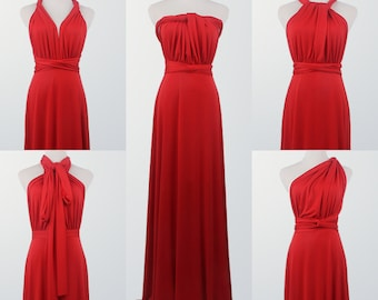 Red Maid of Honor Dresses