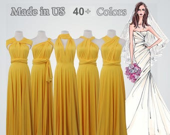 f8c57b6b192 Yellow bridesmaid dress