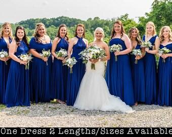 Royal Blue Bridesmaid Dress Etsy,Reception Indo Western Dress For Wedding