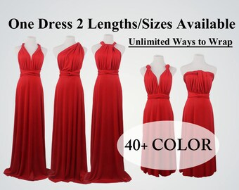 283adb982c838 Ruby Red Bridesmaid Dresses, infinity dress, dress dress, convertible dress,  maternity dress, bridesmaid gown, party dress, Wedding Dress