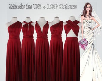 Red Bridesmaid Dresses Wine Red Dress 22341f632