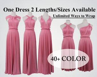 Dark pink bridesmaid dress long infinity dress short convertible bridesmaid  dress pink infinity dress long maxi dress wedding dress 98a7f78add6c