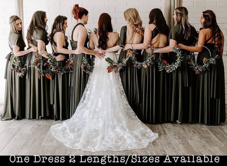 Olive Green Bridesmaid Dress Moss Green infinity dress bridesmaid convertible dress wrap dress infinity dress short infinity dress long