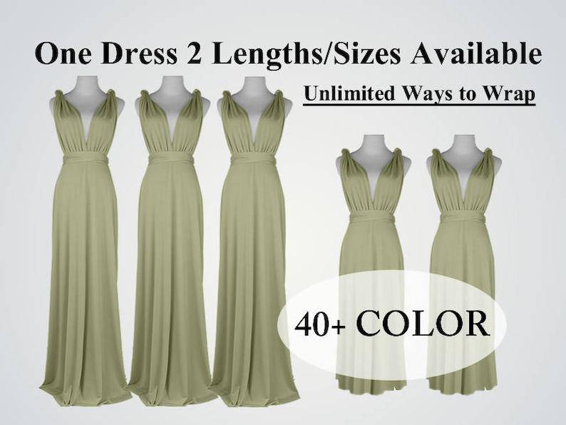 Floor-Length bridesmaid dress light olive long infinity dress short convertible bridesmaid dress infinity dress long maxi wedding dress