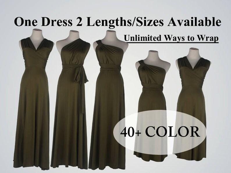 a07540cb31 Olive bridesmaid dress long infinity dress short convertible