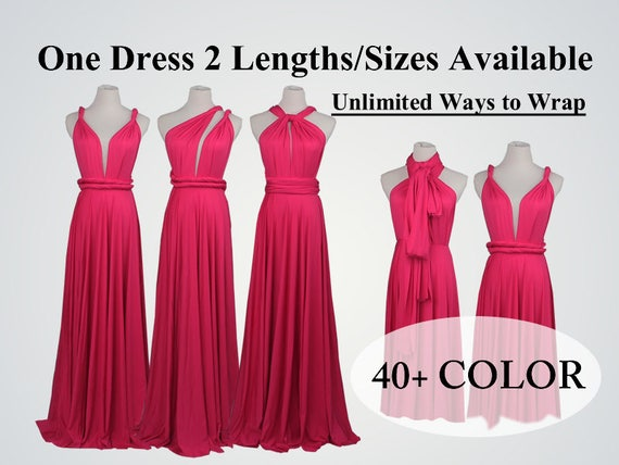 Raspberry sorbet bridesmaid dress long infinity dress short  353a1034b8f0