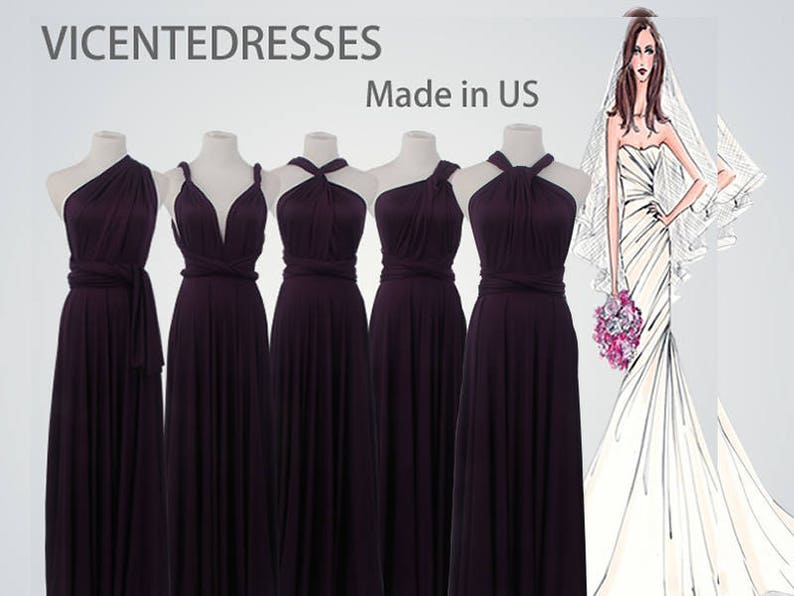 Long bridesmaid dress Eggplant infinity bridesmaid dress long  c2d7982e0469