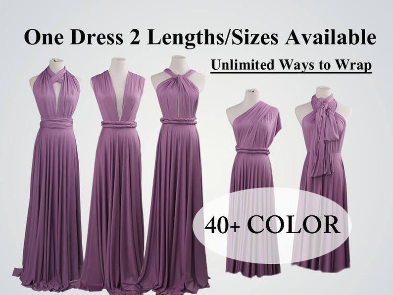 b20b1ad3bd Bridesmaid dress long infinity dress short convertible