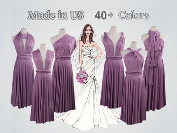 Lavender Bridesmaid Dresses Infinity Dress Gown Convertible Etsy
