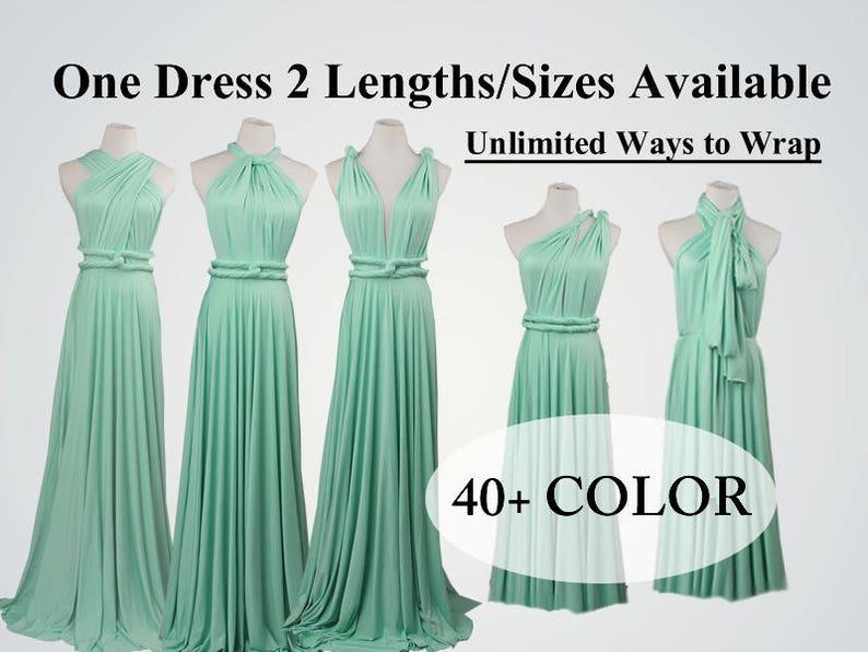 44be60ef2db Mint Bridesmaid dress long infinity dress short convertible