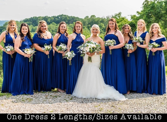 Royal Blue Bridesmaids Dress long