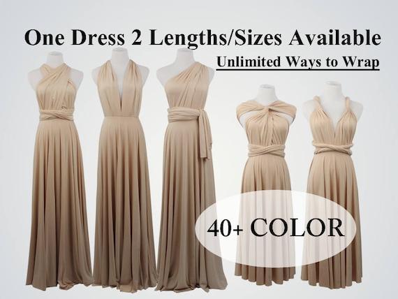 Champagne Bridesmaid Dress Long Infinity Dress Short Etsy