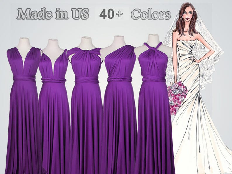 45d7384d344c Royal Purple bridesmaid dress long Floor-length Bridesmaid   Etsy