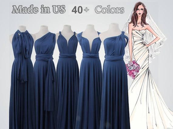 cbcd616a71690 Navy blue bridesmaid dressesLong infinity dressNavy blue | Etsy