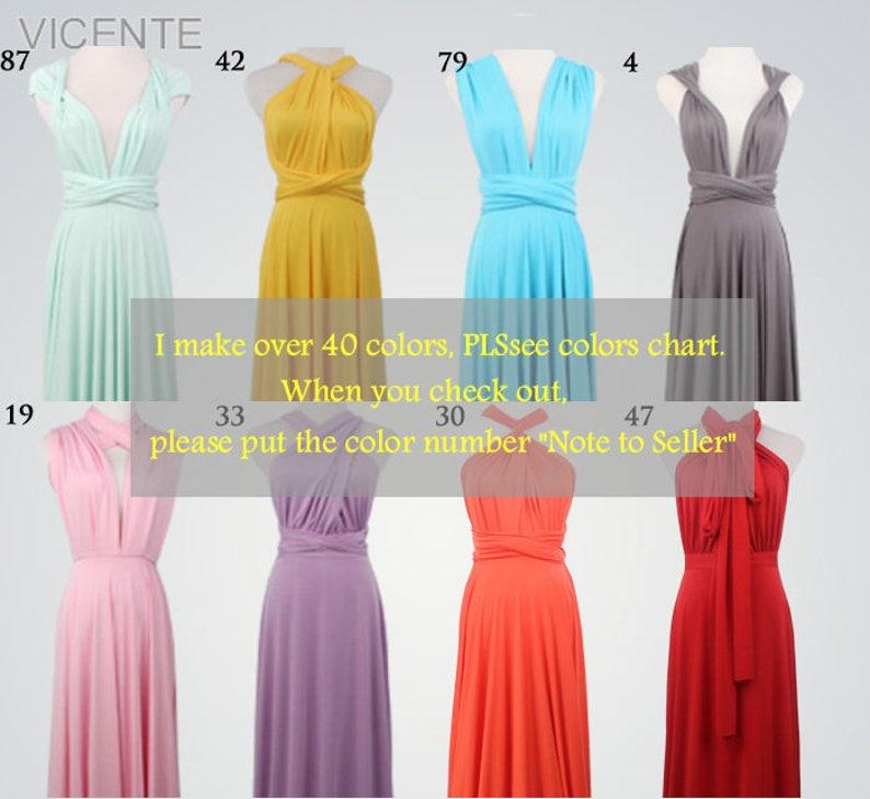 f0c094de578d4 Set of 6-8 long bridesmaid dresses convertible dress   Etsy