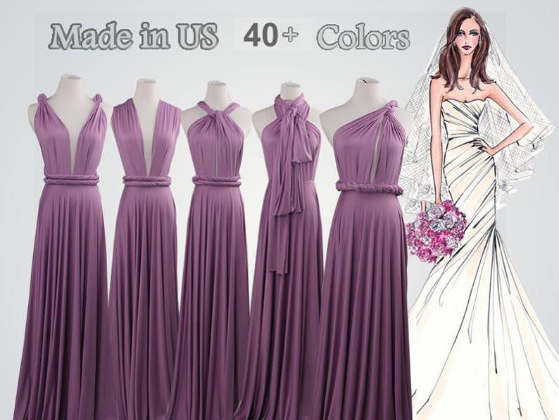 dcfe7100c1 Lavender long bridesmaid dress infinity bridesmaid dress long
