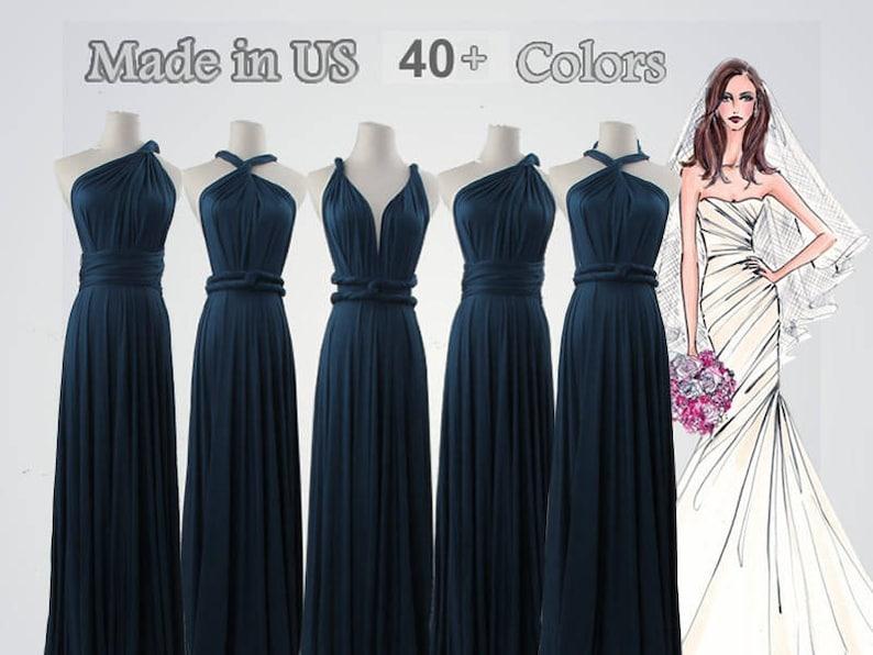 e4f1555680c Blue Infinity Dress long bridesmaid dress infinity bridesmaid