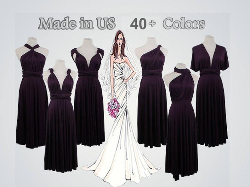 Eggplant infinity dress short bridesmaid dress short infinity  64eba5ad90d0