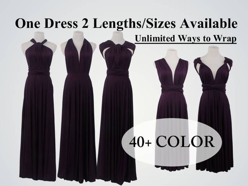 454deae4559 Dark Purple Bridesmaid Dress Infinity Dress Convertible Dress