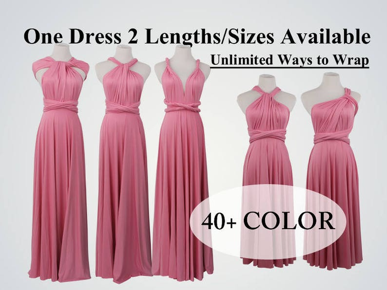 5fe93d4bc2f Dark pink bridesmaid dress long infinity dress short