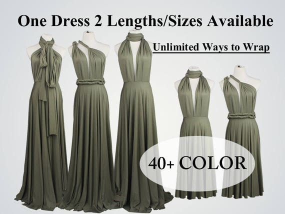 Etsy Bridesmaid Dresses | Olive Green Bridesmaid Dress Long Bridesmaid Dress Short Etsy